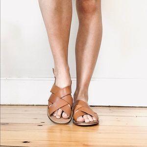 Mariella brown leather sandals